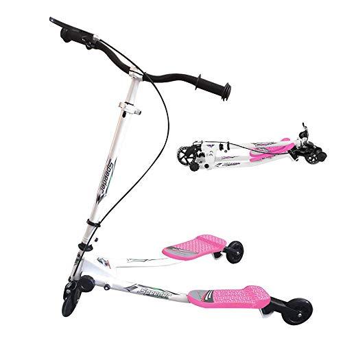 Patinete Scooter de 3 Ruedas Swing Yvolution Fliker Plegable Altura Ajustable, para Niños de 5 +/Adolescentes/Adultos