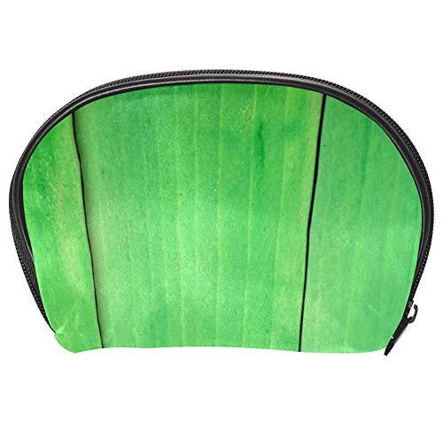 Bennigiry Trousse de maquillage en bois vert pour femme avec fermeture éclair
