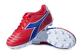 Diadora Kids  Cattura MD Jr Soccer Shoe  8 Toddler Red/Royal/White