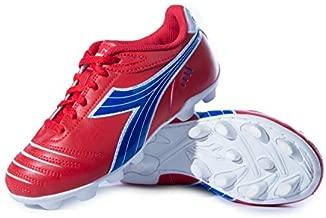 Diadora Kids' Cattura MD Jr Soccer Shoe (9 Toddler, Red/Royal/White)