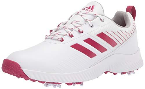 adidas womens Golf Shoe, White/Wild Pink/Screaming Pink, 6.5 US