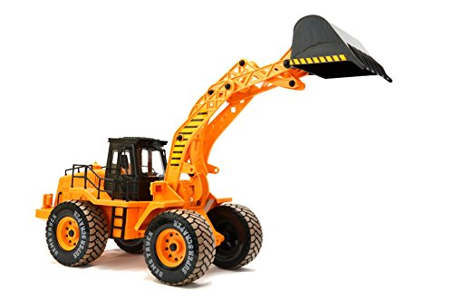 ES-TOYS Remote-Controlled Construction Vehicle, Excavator, 3 Channel, Scale: 1:10, with Battery 068-2