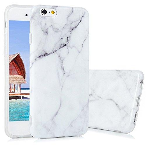 KASOS Marmo Cover iPhone 6s, Morbido Custodia iPhone 6 Silicone Gel Ultra Sottile Premium TPU Flessibile Case IMD Tecnologia di Disegno Marble, Grigio e Bianco