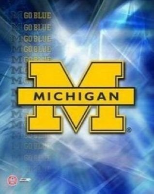 Michigan Wolverines NCAA 8x10 Photograph University of Michigan Team Logo