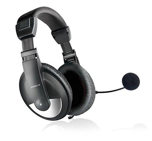 Speedlink THEBE Stereo Headset - Kopfhörer für Büro/Home Office - hervorragender Klang - weich gepolsterte Ohrmuscheln, schwarz