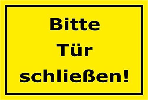 Melis Folienwerkstatt Schild Bitte Tür schließen – 15x20cm, 30x20cm und 45x30cm – Bohrlöcher Aufkleber Hartschaum Aluverbund -S00143C