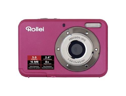 Rollei Compactline 52 Digitalkamera (5 Megapixel, 8-Fach digital Zoom, 6,1 cm (2,4Zoll) Farb TFT-LCD) rosa