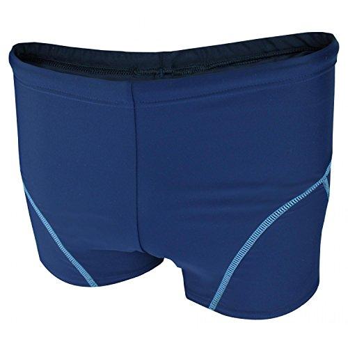 Aquarti Jungen Badehose Schwimmhose kontrastfarbene Nähte, Farbe: Dunkelblau/Blau, Größe: 128