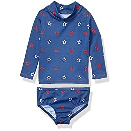 Amazon Essentials Baby Girls' UPF 50+ 2-Piece Long-Sleeve...