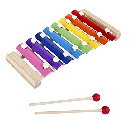 QiHaoHeji Xilófono 8 Escamas de Madera Xylophone Study Percussion Instrument Kid Music Toy (Color : Colorful, Size : One Size)