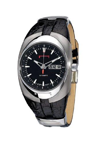 Pirelli r7921100255Unisex Orologio analogico automatico con indicatore della data e cinturino in pelle, colore: nero