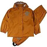 Fred's World by Green Cotton Rainwear Set Rain Jacket, Orange Caramel, 122 Unisex niños