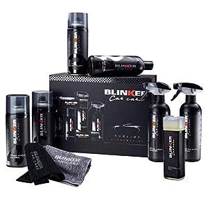 Kit Limpieza Coche 10pcs - Productos para el Cuidado y Limpieza del Interior y Exterior del vehículo - Incluye Limpia Llantas, champú, abrillantador de Interiores, renovador de neumáticos…