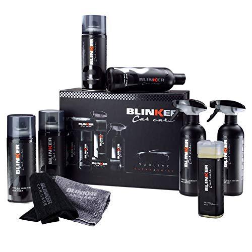 Kit Limpieza Coche 10pcs - Productos para el Cuidado y Limpieza del Interior y Exterior del vehículo - Incluye Limpia...