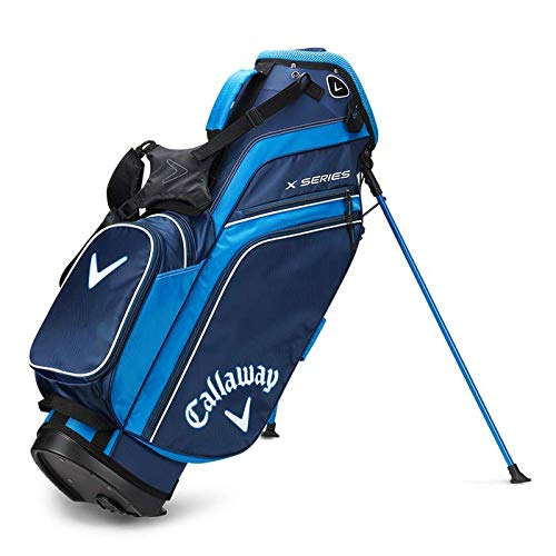 Callaway X-series - Borsa da golf da uomo, Uomo, Borsa da golf, 5119278, Blu marino/blu royal/bianco., Taglia unica