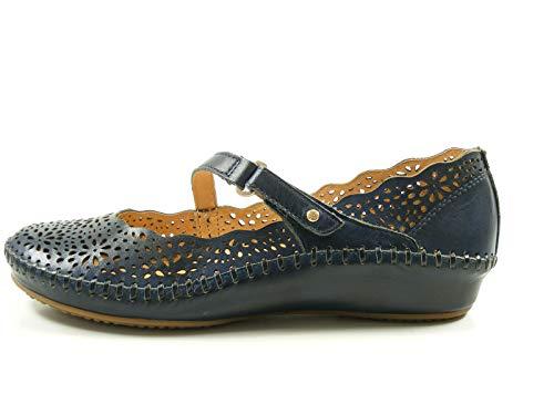 Pikolinos 655-1573 Puerto Vallarta Schuhe Damen Ballerinas Sandalen, Schuhgröße:42 EU, Farbe:Blau