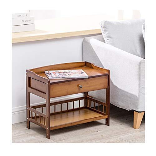 Ya-Ya nachtkastje Bamboo met lade van de organisator, nachtkastje, nachtkastje, nachtkastje