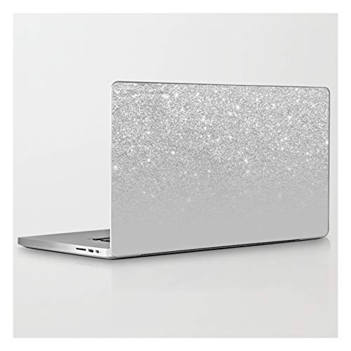 Laptop & Tablet Skin - 13' MacBook Pro Retina - Trendy Modern Silver Ombre Grey Color Block by Girl