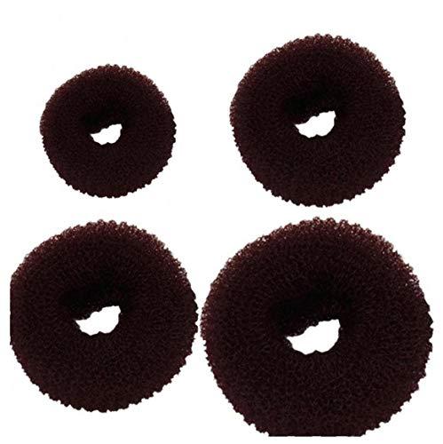 Donut Chignon Maker Anneau Style Bun Maker Ensemble Avec Chignon Makers 1 Extra-large 1 Grand 1medium Et 1petit Café