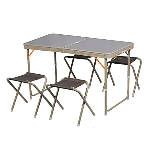 Mesa y sillas Plegables Mesa para Maleta de Camping Mesa portátil Ligera para Barbacoa al Aire Libre Picnic Camping Playa
