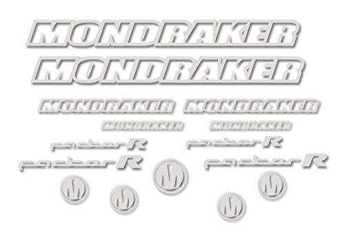 Ecoshirt V1-ZTFQ-3FI8 Aufkleber Mondraker Factor R Am11 Gabel Fork Stickers Aufkleber Adesivi Bike, grau 071