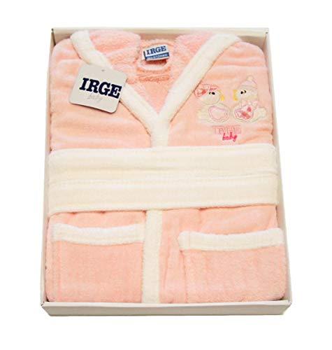 Russo Tessuti Accappatoio Baby Neonato IRGE Baby Cinigliato Paperella Rosa Art.10/2-12/18 Mesi