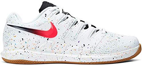 Nike Herren Zoom Air Vapor X HC Tennisschuhe, Weiß (White/Laser Crimson-Oracle Aqua 108), 43 EU