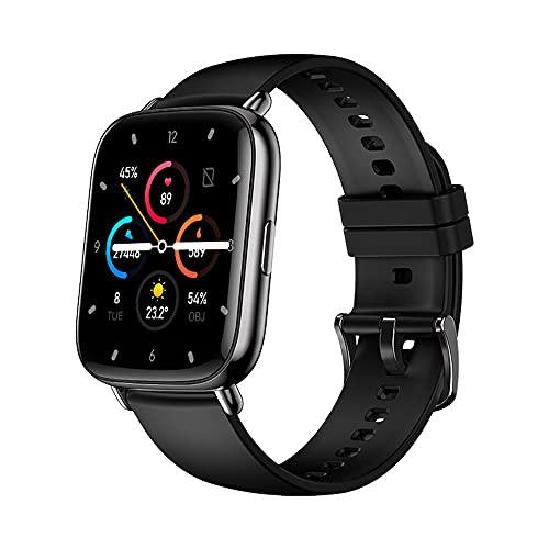 Smart Watch Pantalla táctil con 17 países Languages, Fitness Sleep Tracker con 24 modos deportivos, ritmo cardíaco / monitor de presión arterial, excelentes regalos de cumpleaños para hombres,Negro