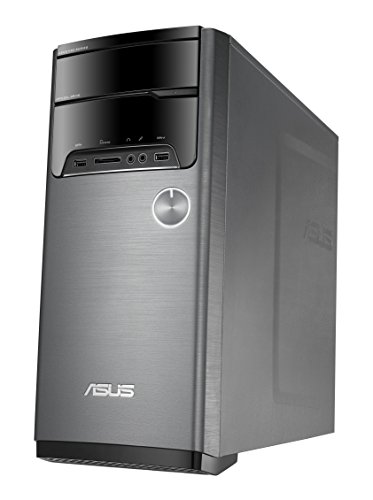 Asus - Desktop - Intel Core i7 - 12GB Memory - 1TB+8GB Hybrid Hard Drive - Gray