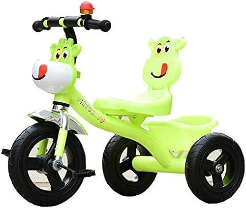 Minmin-chezi Kinder Dreirad Fahrrad Baby 2-6 Jahre alt mit Musik Hand Licht Fahrrad drücken