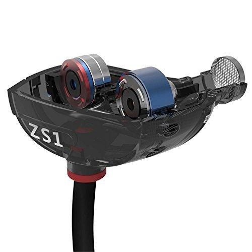 KZ ATE alta fidelidad en la oreja los auriculares con soporte para la oreja de cobre conductor y espuma Eartips Especialmente para el Deporte y aficionados a la m?sica, Mic Edition