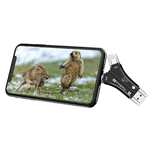 LEOP Trail Camera Viewer SD Card Reader, SD and Micro SD Memory Card Reader to View Wildlife Game Camera Hunting Photos or Videos