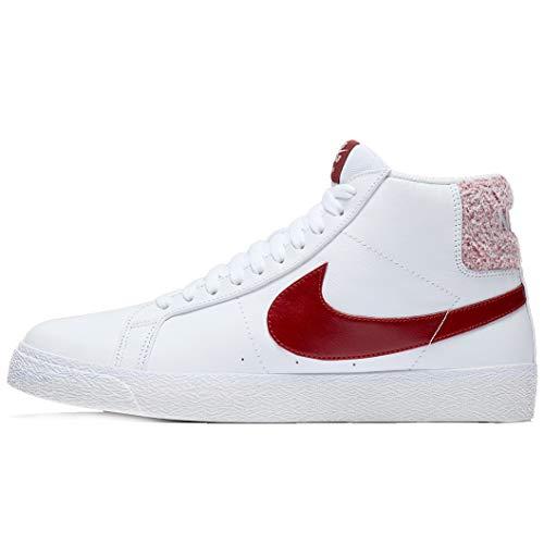 Nike SB Zoom Blazer Mid Premium Scarpe da uomo, Bianco (White Team Red), 45.5 EU