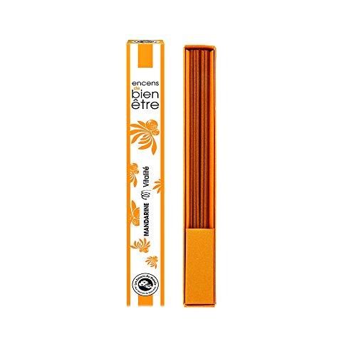 Aromandise Mandarino incenso aromambiance, estratti di Piante, Arancione, 2,5x 2,5x 20cm
