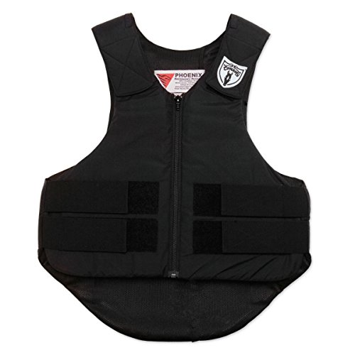 TIPPERARY EQUESTRIAN Horse Riding Eventing Vest - Ride-Lite - English Style Protective Horseback Riding Apparel - Ultra Flexible Fit Body Protector - Black - L