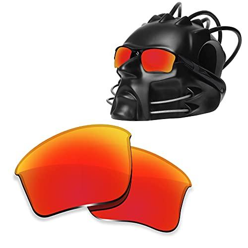 ToughAsNails Reemplazo de lente polarizada para Oakley Half Jacket 2.0 XL OO9154 Sunglass - Más opciones, Naranja Fuego, Talla única