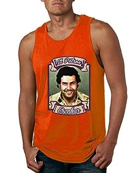 Wild Bobby El Patron Escobar Pablo Narcos Colombian Cocaine Cartel Medellin | Mens Streetwear Graphic Tank Top Orange Medium
