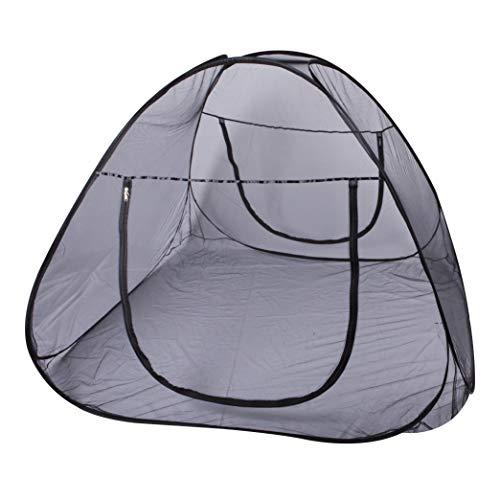 Windhager POP-UP Moskitonetz, großes Mückennetz für Doppelbett, Camping Netz, Insektenschutz, Mückenschutz, Bettnetz, Fliegennetz Zelt, 140 x 200cm, anthrazit, 03274