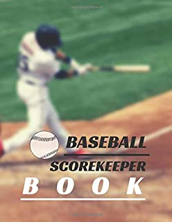 Baseball scorekeeper book: baseball scorekeeper book | Softball Score Record Book | Gift for Coach & Baseball Fans | wall ...