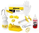 RSN Sports Bleed Kit for Shimano Hydraulic Brakes with Mineral Oil, Adapters, and Tools