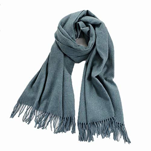 Omslagdoeken scheerwol sjaal vrouwelijke dikke warme herfst en winter lange hak wilde kasjmier slabbetjes eenkleurig