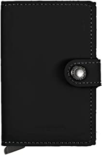 Secrid Men's Mini wallet Genuine Matte Leather With RFID Safe Card Case for max 12 cards