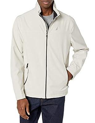Nautica Men's Lightweight Stretch Golf Jacket, Stone, L by Nautica Men's Outerwear