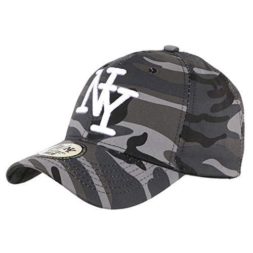 Hip Hop Honour Casquette NY Enfant Militaire Grise Kaptin Baseball Camouflage 7 a 12 Ans - Garçon