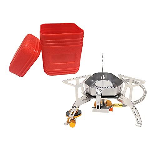 sharprepublic Mini Quemador de Estufa portátil Estufa de Gas a Prueba de Viento al Aire Libre Cocina con butano Estufa de aleación de Aluminio Horno Plegable para