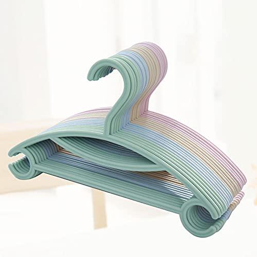 PetKids - Lote de 20 perchas para abrigos de bebé con gancho, 2 prendas colgantes, diseño de esquina redondeada para ropa de bebé