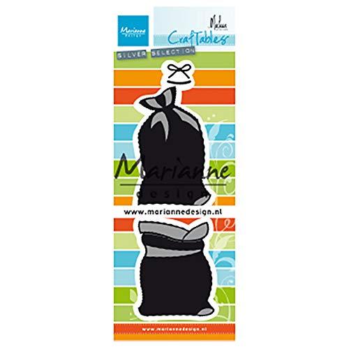 Marianne Design Craftables Presents Tas van Marleen, Metaal, Zilver of Wit, Klein