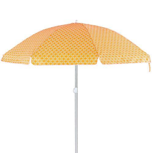 LOLAhome Sombrilla Playa Parasol Naranja de Aluminio de Ø 240 cm