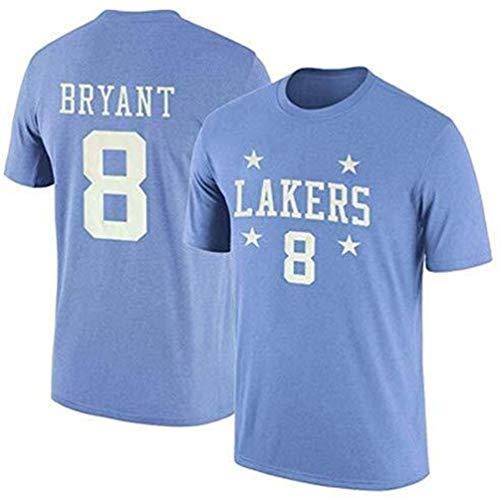 BHHT NBA Maglie Lakers Kobe 1996-2016 Retired T-Shirt commemorativa Kobe Cotone 8-24 Pallacanestro Aspetto Abito Corto Maglie Maglie a Manica (Color : Blue 3, Size : Large)