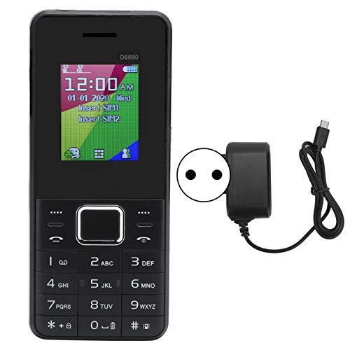 Teléfono móvil para Personas Mayores, teléfono móvil de Pantalla Grande de 1,8'con cámara de 0,08 MP, Potente teléfono móvil de 2500 mAh de Larga Espera para Personas Mayores(EU)